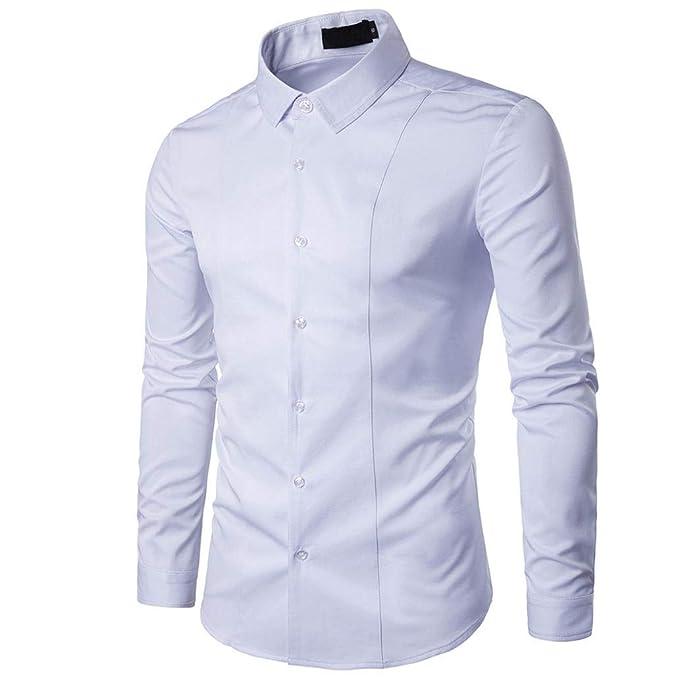 80c1b1b80a Yvelands Camisa de Negocios Avanzada para Hombres