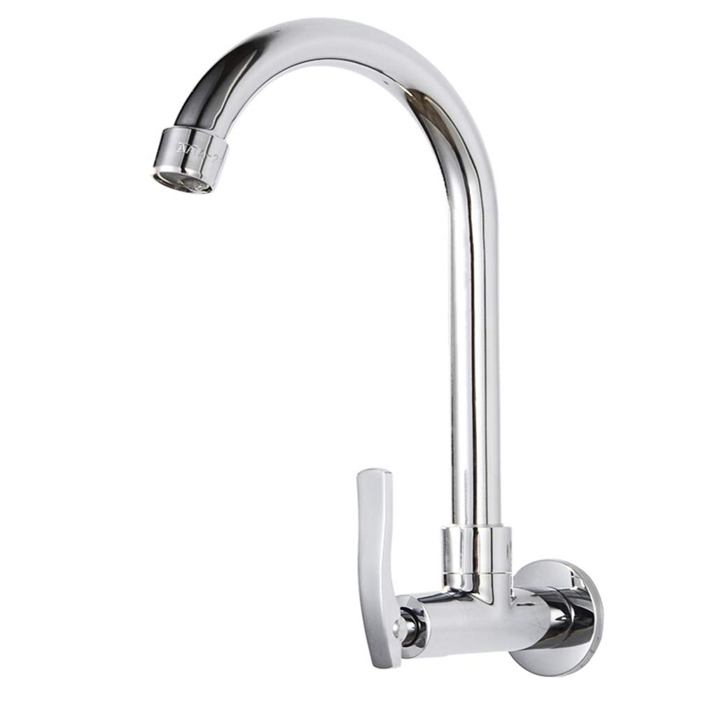 Yxx max Bathroom in-Wall Faucet Single Cold Kitchen Sink Faucet Laundry Pool Faucet