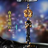 Tiger Eye Double Brave car Necklace Pendant Jewelry Lucky Security Peace car Ornaments Upscale Decorative Mirrors Pendants