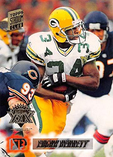 1994 Stadium Club Super Teams Super Bowl Football #94 Edgar Bennett Green Bay Packers Official NFL Trading Card From Topps