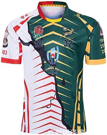 DDZY Jersey de Rugby de 2019 campeón de la Copa Mundial de edición Conjunta, Deportes de Verano Transpirable Camisa Casual Camiseta de fútbol Camisa de Polo,XXXL: Amazon.es: Hogar