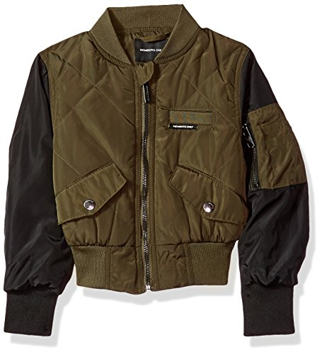 Members Only Little Girls' Quilted Bomber, Army Green, (Girls Quilted Bomber Jacket)