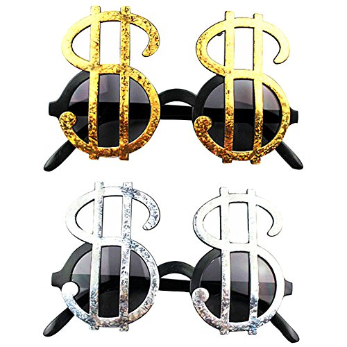 Dollar Sign Sunglasses,Pack of 4(Color - Sunglasses Sign Dollar