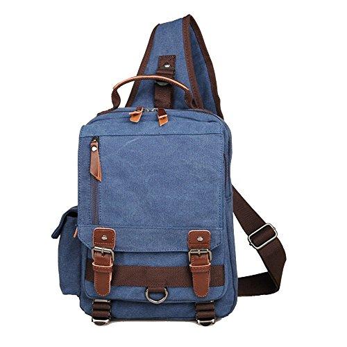 Cross Bag Shoulder Outdoor Hiking Sling Lightweight Travel Messenger Chest Backpack Sport Jxth Gym Body Blue Casual Daypack Canvas gp0pqw