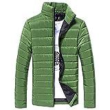 REYO Men's Coats Winter Long Sleeve Cotton Stand Zipper Warm Thick Jacket Outwear Sport Tops Hooded Swearshirt