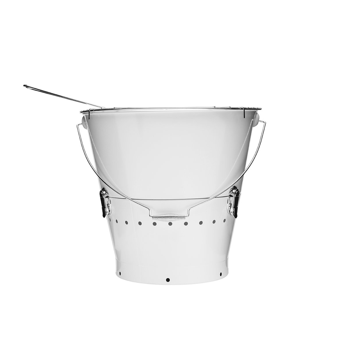 Sagaform 5016670 - BBQ Grilleimer, weiß - (Ø x H): 38 x 37 cm