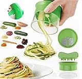 Premium Spiralschneider Hand für Gemüsespaghetti kartoffel, FabQuality Zucchini Spargelschäler, Gurkenschneider, Gurkenschäler, Möhrenreibe Möhrenschäler, Gemüsehobel