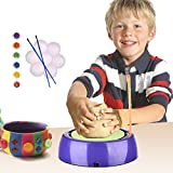 Per Kids Pottery Wheel Kit With Clay Pigments And Ceramic Tools DIY Art Pottery Studio For Children Toddlers Beginners Learning Sculpture