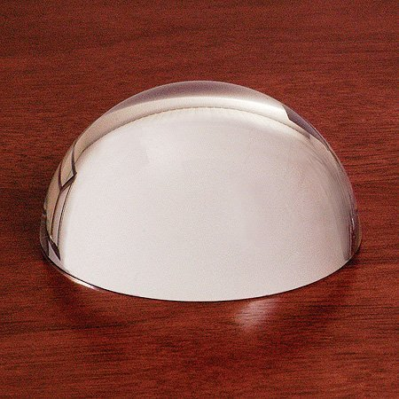 Magnifying Glass Dome - Genuine Crystal Glass Magnifier - Easy to Glide Paperweight - Professional Grade Reading Aid for Blueprints, Maps, Newspapers - Comes in a Nice Gift Box (MEDIUM 3.15