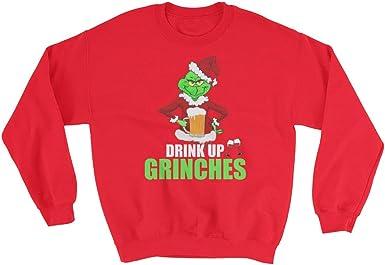 Santafe Fuco Drink Up Grinches Funny Christmas Long Shirt Naughty Grinch Xmas Shirt