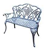 Oakland Living Butterfly Cast Aluminum Loveseat, Antique Pewter