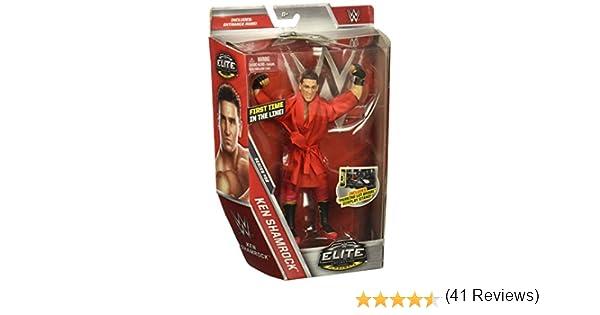 Mattel WWE Elite Series 52 Ken Shamrock Action Figure Boîtes pas Comme neuf