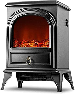 Fc Winter Compact Electric Fireplace Heater Freestanding Fireplace Stove With 3d Realistic Flame Overheating Safety Protection Portable Indoor Space Heater For Small Spaces Buy Online At Best Price In Uae
