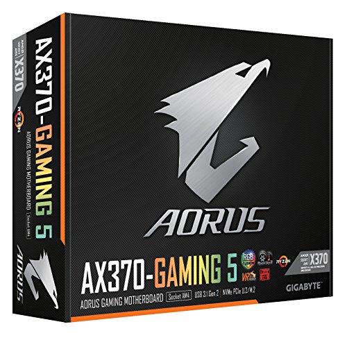 GIGABYTE AORUS GA-AX370-Gaming 5 (AMD Ryzen AM4/ X370/ RGB FUSION/ SMART  FAN 5/ HDMI/ M 2/ U 2/ USB 3 1 Type-C/ ATX/ DDR4/ Motherboard)