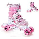 Raven 2in1 oder 3in1 Kinder Inline Skates Triskates/Rollschuhe Princess