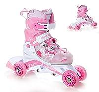 3in1 Kinder Inline Skates Triskates/Rollschuhe Raven Princess Größe: 30-33...