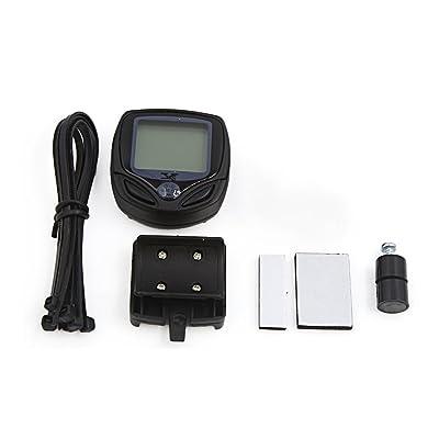 sourcingmap® Vélo vélo sans fil étanche LCD lumineux indicateur odomètre ordinateur