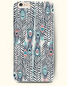 SevenArc Apple iPhone 6 Plus 5.5' 5.5 Inches Case Paisley Pattern ( aqua and Salmon Peacock Tail )