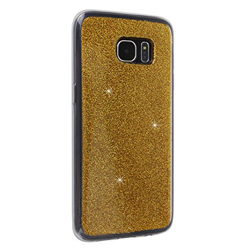 Galaxy S7 Edge Fundas, Galaxy S7 Edge Silicona Carcasa, Moon mood® Suave TPU Silicona Trasero Caso Cubierta Protectora Funda Móvil Celular Concha Blanda Flexible Capas Caja del Teléfono Cáscara Protec 2PCS-1