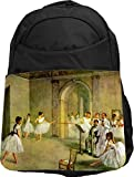 Rikki Knight UKBK Edgar Degas Art Hall of the Opera Ballet Superstrong BackPack - Padded for Laptops & Tablets Ideal for School or College Bag BackPack