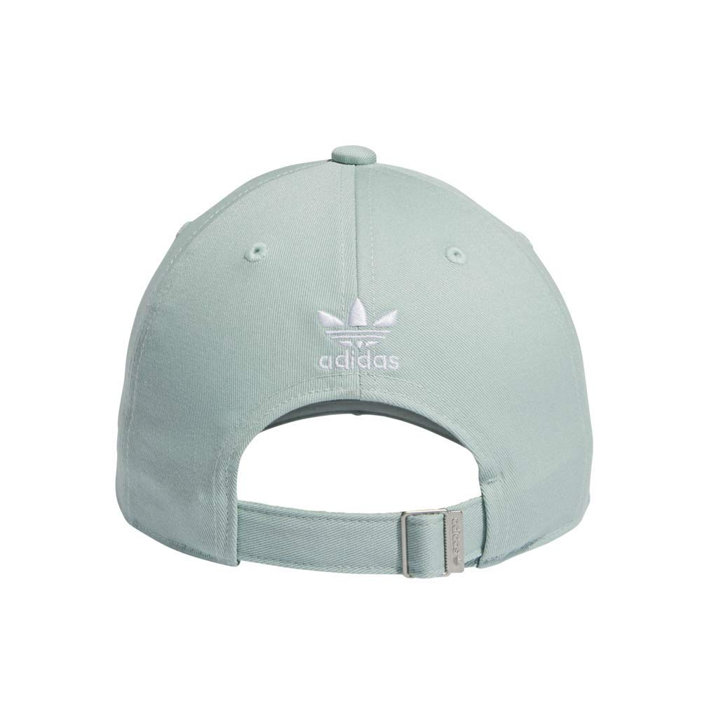 adidas Women's Originals Outline Logo Relaxed Adjustable Cap, Ash Green/White, One Size by adidas (Image #4)