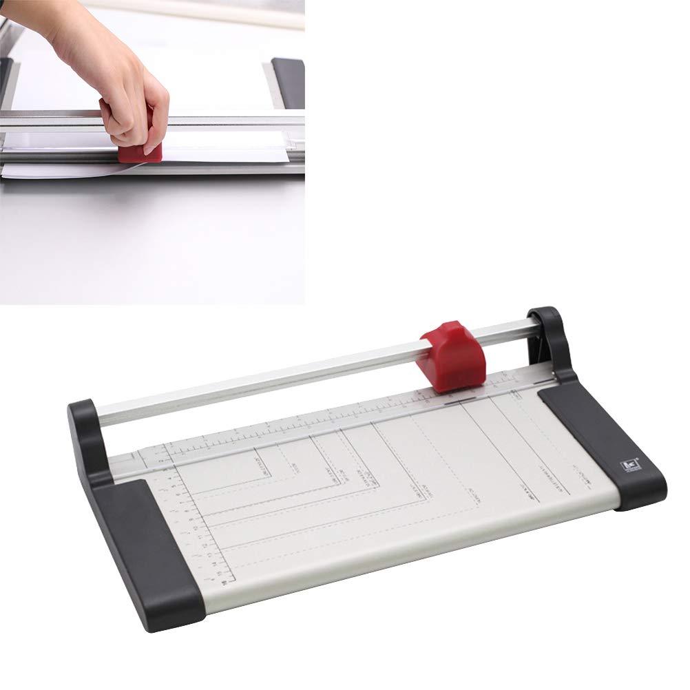 Toyvian Professional A3 A4 Cortador de papel Guillotina a base de metal Corte de papel normal Corte de fotos para oficina en casa