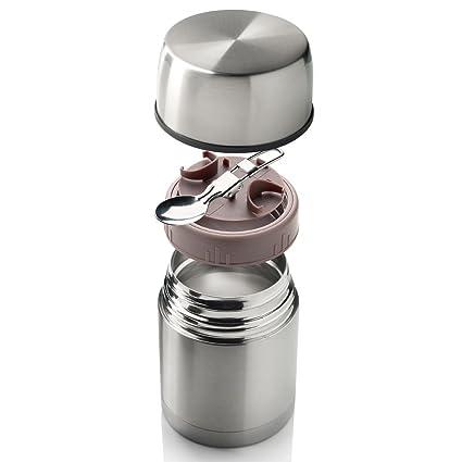 Termo acero inoxidable 600 ml para bebidas Essen & – Recipientes térmicos Food calentadora Depósito de