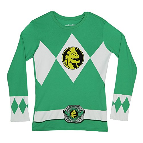 Green Power Rangers Long Sleeve Costume Shirt - XL -