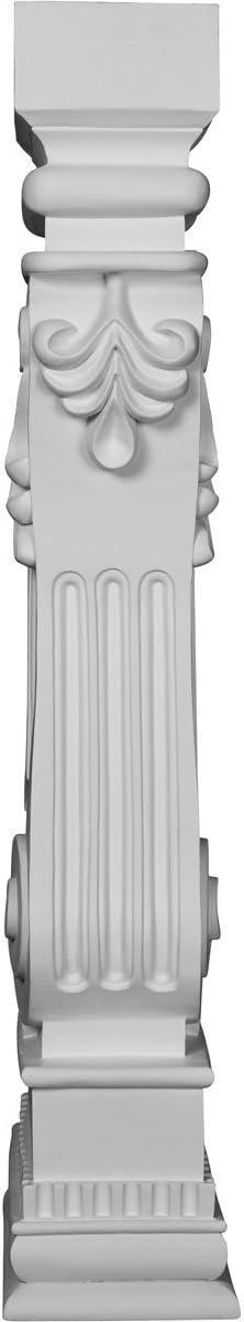 Ekena Millwork SUR34X06X12RU 6 3//8W x 12D x 34 1//8H Rutledge Surround Factory Primed White