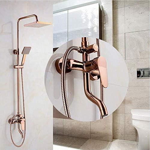 """BXU-BG バスルームには、8"""" レインシャワーミキサータップを取り付けられた金シャワーセット壁をバラ3つの機能にミキサーバルブ四角頭を蛇口"""