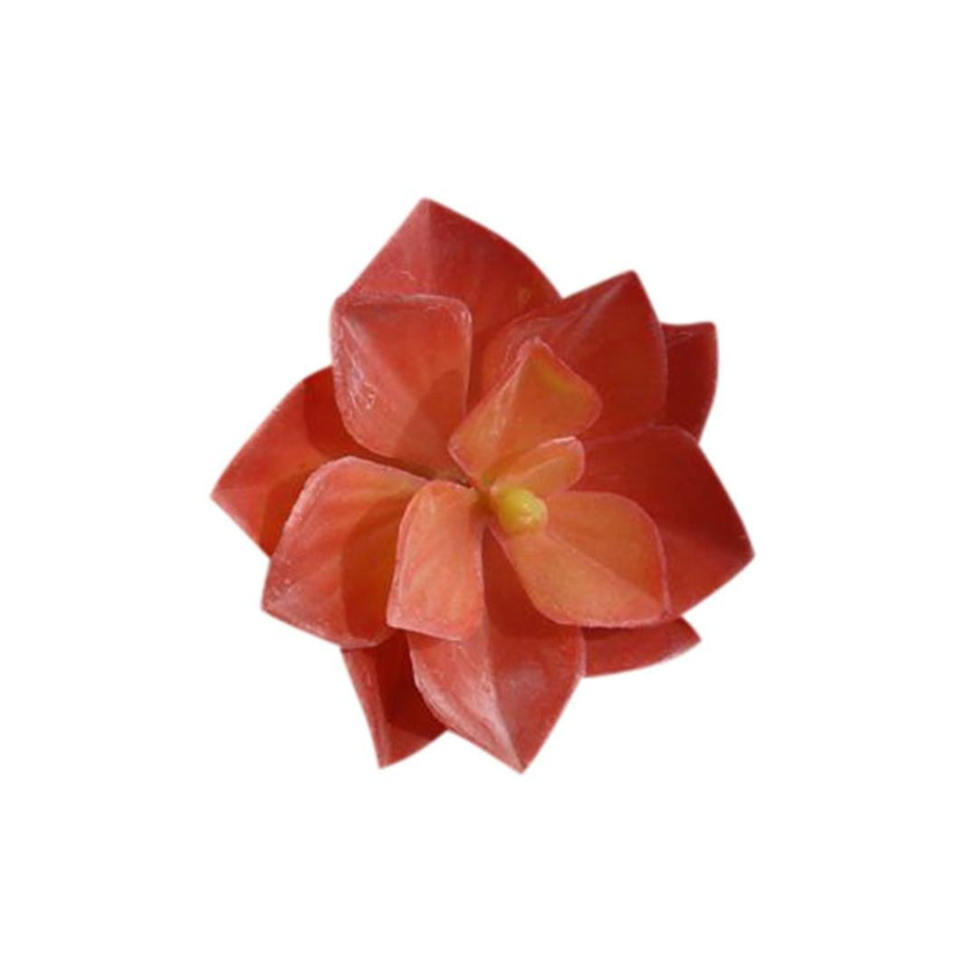 yezijinフェイク花、人工プラスチックミニチュア多肉植物植物Echeveria花ホーム屋内外装飾 One Size レッド B07FJV9D6D レッド