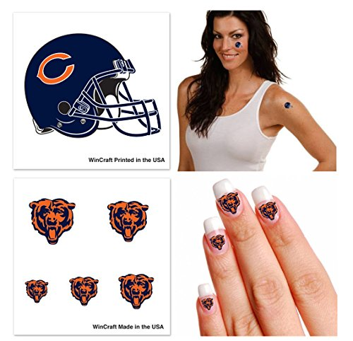 chicago-bears-nfl-temporary-tattoo-fan-fun-pack