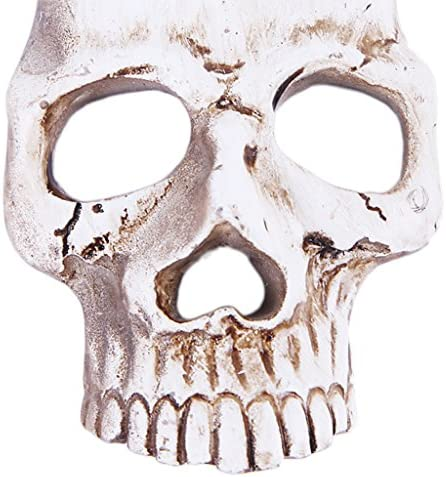 Non-brand 創造的な頭蓋骨の電話のケースのシェルステッカーDIY電話アクセサリー - アンティークホワイト