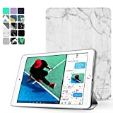 "TNP New iPad 2017 iPad 9.7 inch Case - Lightweight Smart Case Trifold Slim Shell Stand Cover with Auto Sleep Wake Function Feature for Apple iPad 9.7"" 2017 Release Tablet (Marble White)"