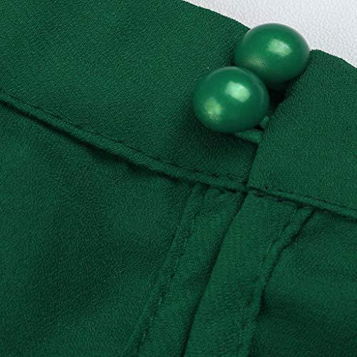 Green Holywin Uni Chemisier Femme Chemise rqgaqwI