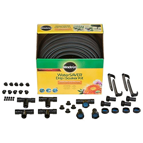 Miracle-Gro WaterSaver Drip and Soaker PRO Kit, Efficient Pinpoint or Continous Watering (Miracle Gro Hose)