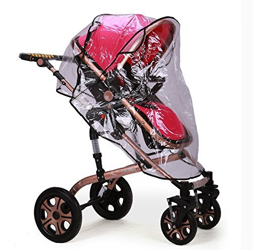 Clear Rain Wind Weather Cover Shield Protector with Ventilation for Zooper Baby Child Strollers Joggers (Sport Utility Stroller)