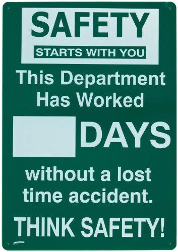 Brady 45957 Prinzing Safety Record Sign for