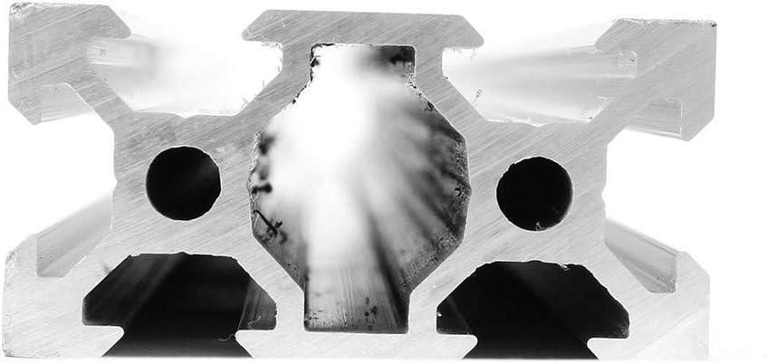 belupai 100-1200mm Silber 2040 V-Nut Aluminiumprofile 20x40mm Aluminiumprofil-Extrusionsrahmen f/ür CNC-Laser-Graviermaschine