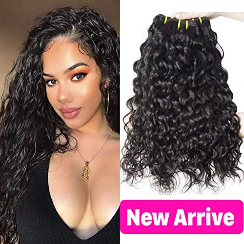 CLAROLAIR 9A Brazilian Water Wave Hair 3 Bundles Human Hair 3 Bundles Water Wave Hair Extension Curly Weave Bundles Wet and Wavy Human Hair Bundles 95g±5g/Bundle 14 16 18 Inch from CLAROLAIR