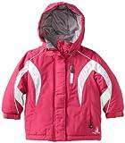 Rugged Bear Little Girls'  Pieced Heavy Ski Jacket, Fuschia, 5/6