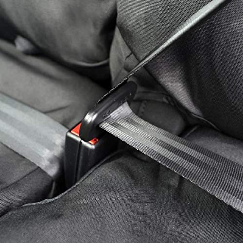 UKB4C Trafic 2014 On Fully Tailored Extra Heavy Duty Van Seat Covers Black Waterproof