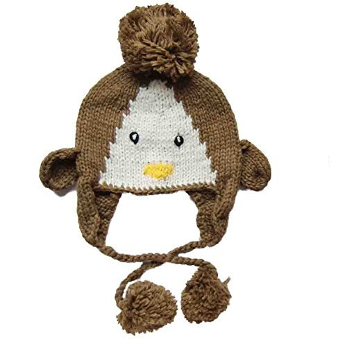 Comfy Animal Knit Beanie Hat for Kids for Fall Winter or Costume - Brown  Penguin ( b1b867f7d0c9