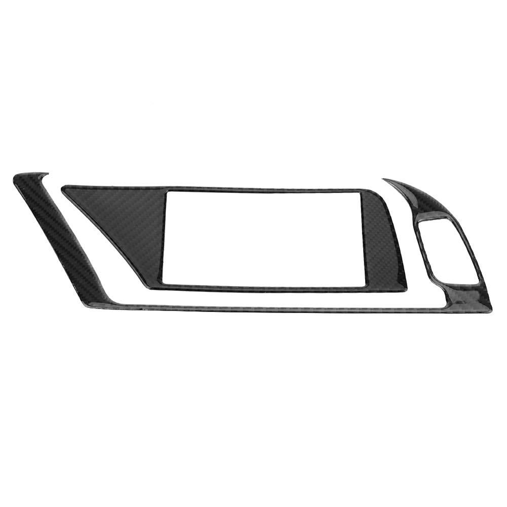 KIMISS Couverture Cadre de Panneau Inté rieur voiture Garniture de Panneau du Navigateur GPS pour B8 A4 A5 Q5 S4 S5