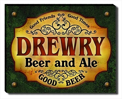 drewry-beer-ale-stretched-canvas-print