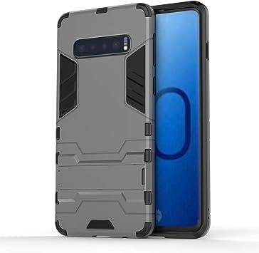 Funda estanca para teléfono móvil Caja del Teléfono A Prueba De Golpes De PC + TPU For La Galaxia S10, con El Titular (Negro) (Color : Grey): Amazon.es: Electrónica