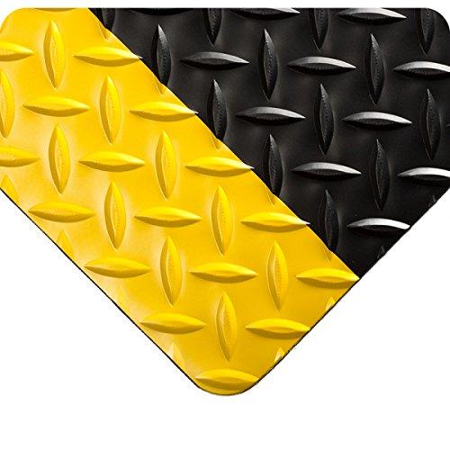 (Wearwell 385.316x4x10BYL Diamond-Plate Runner Mat, 10' Length x 4' Width x 3/16