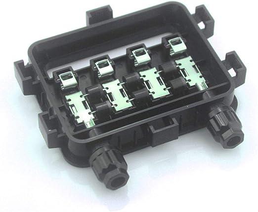 VIKOCELL 10A Caja de conexión Solar IP65 Caja de conexión PV con 3 diodos 180W-250W: Amazon.es: Jardín