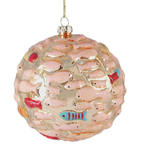 School Glass Hanging Christmas Ornament