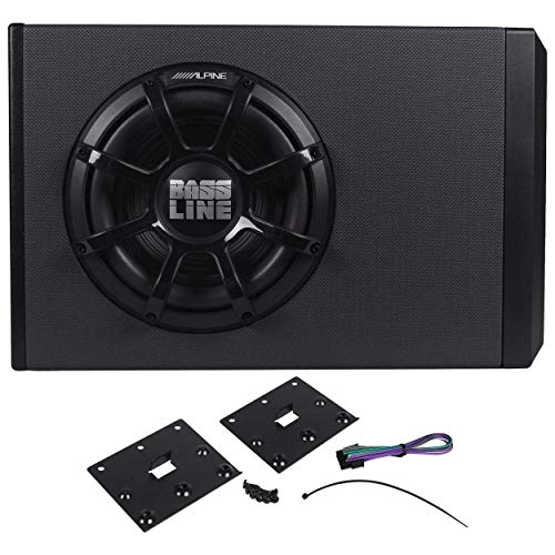 Alpine 250W Powered Sub Enclosure with 10 Inch Bassline Subwoofer & Amp PWA-S10V